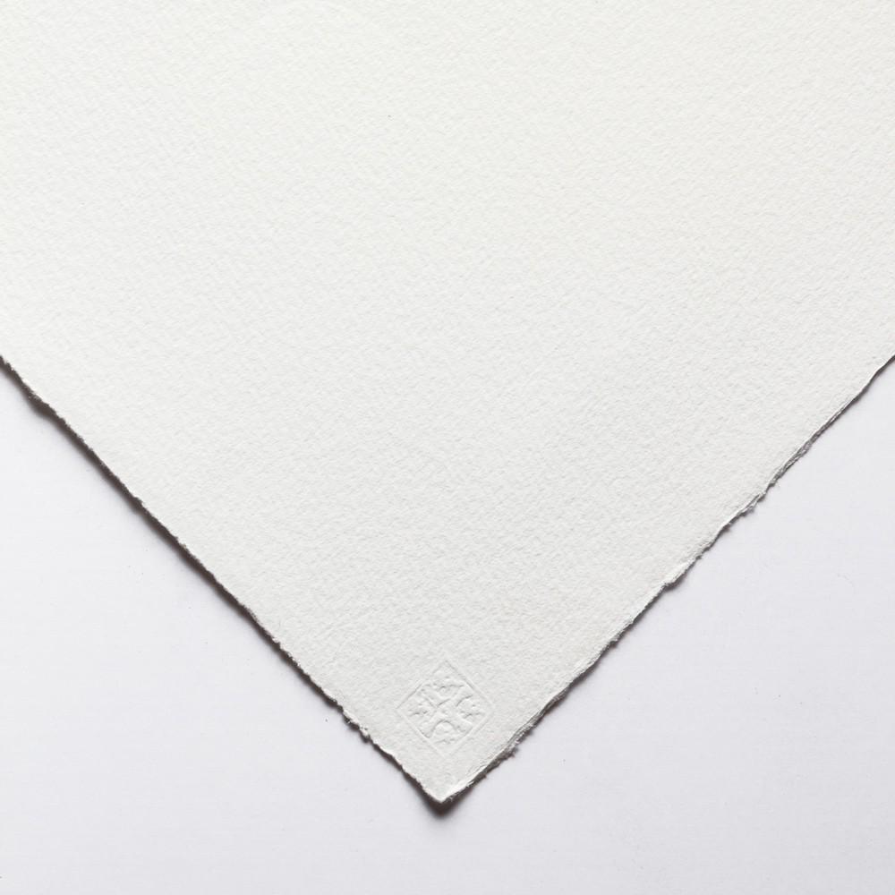 Saunders Waterford : 56x76cm :  300g : High White : 1 Feuille : Grain Torchon