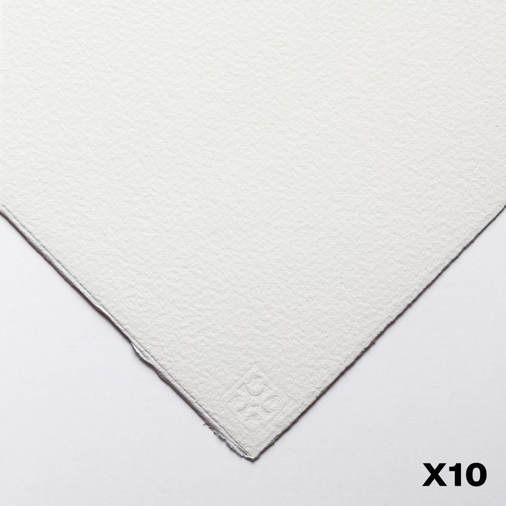 Saunders Waterford : 56x76cm :  425g : High White : 10 Feuilles : Grain Fin