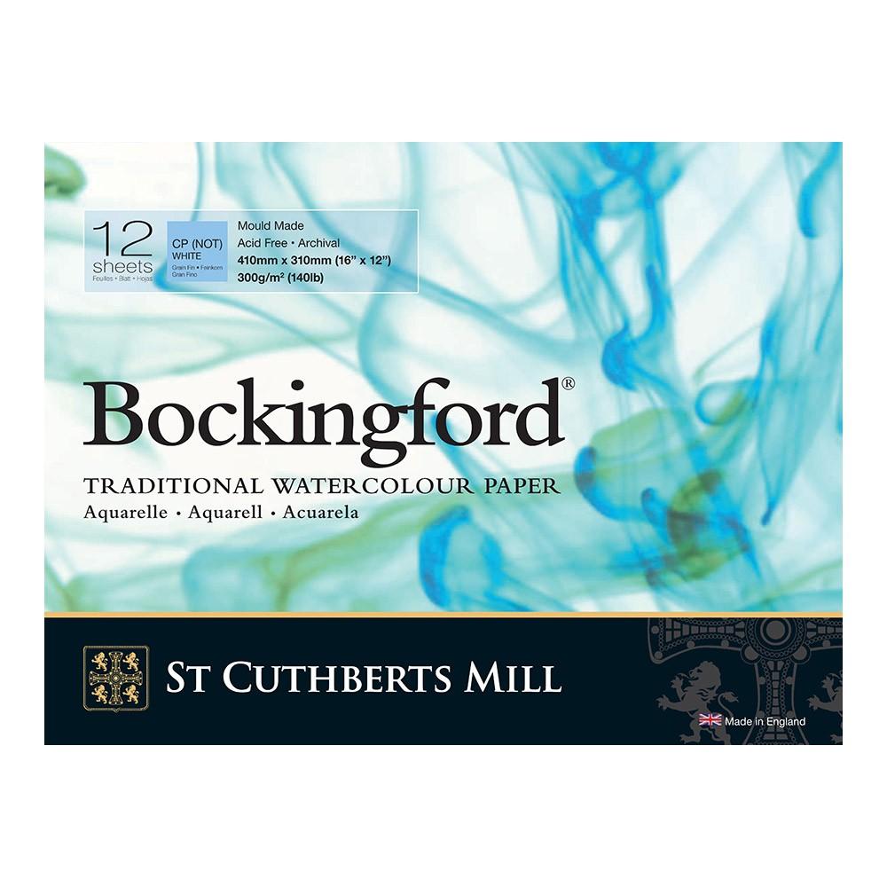 Bockingford : Bloc Encollé : 30x40cm : 300gsm : 12 Feuilles : Grain Fin