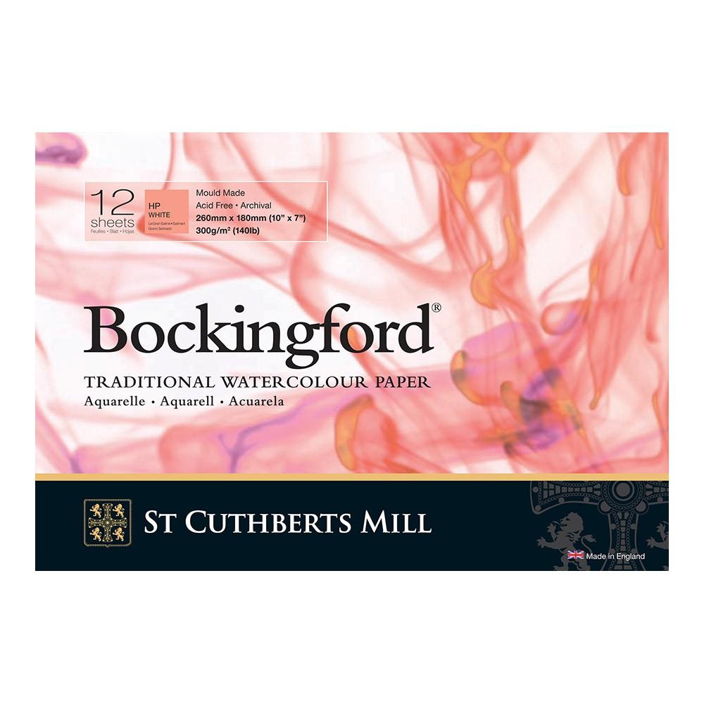 Bockingford : Bloc Encollé : 7x10in : 300gsm : 12 Feuilles : Grain Satiné