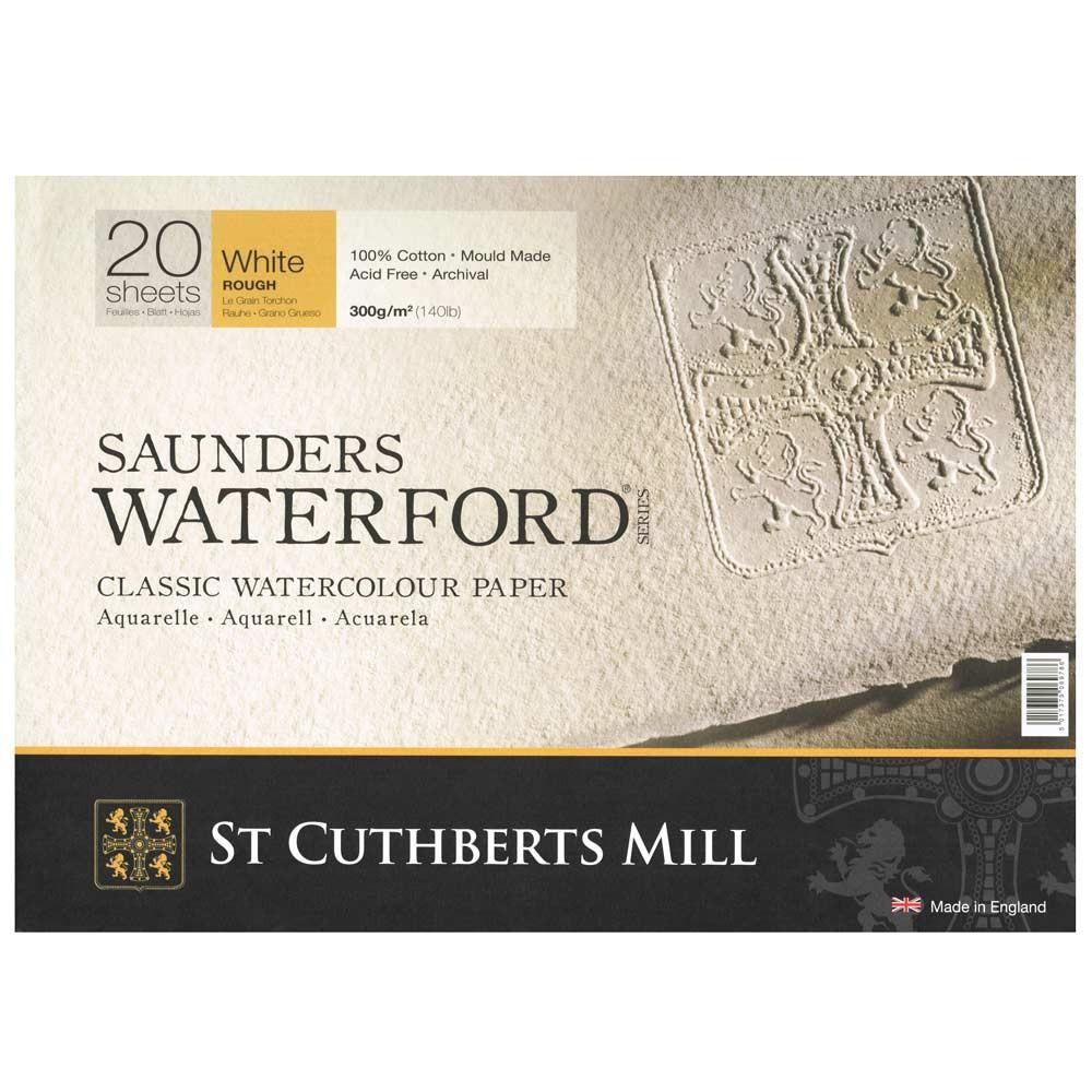 Saunders Waterford : Bloc : 300g : 30x40cm : 20 Feuilles : Grain Torchon