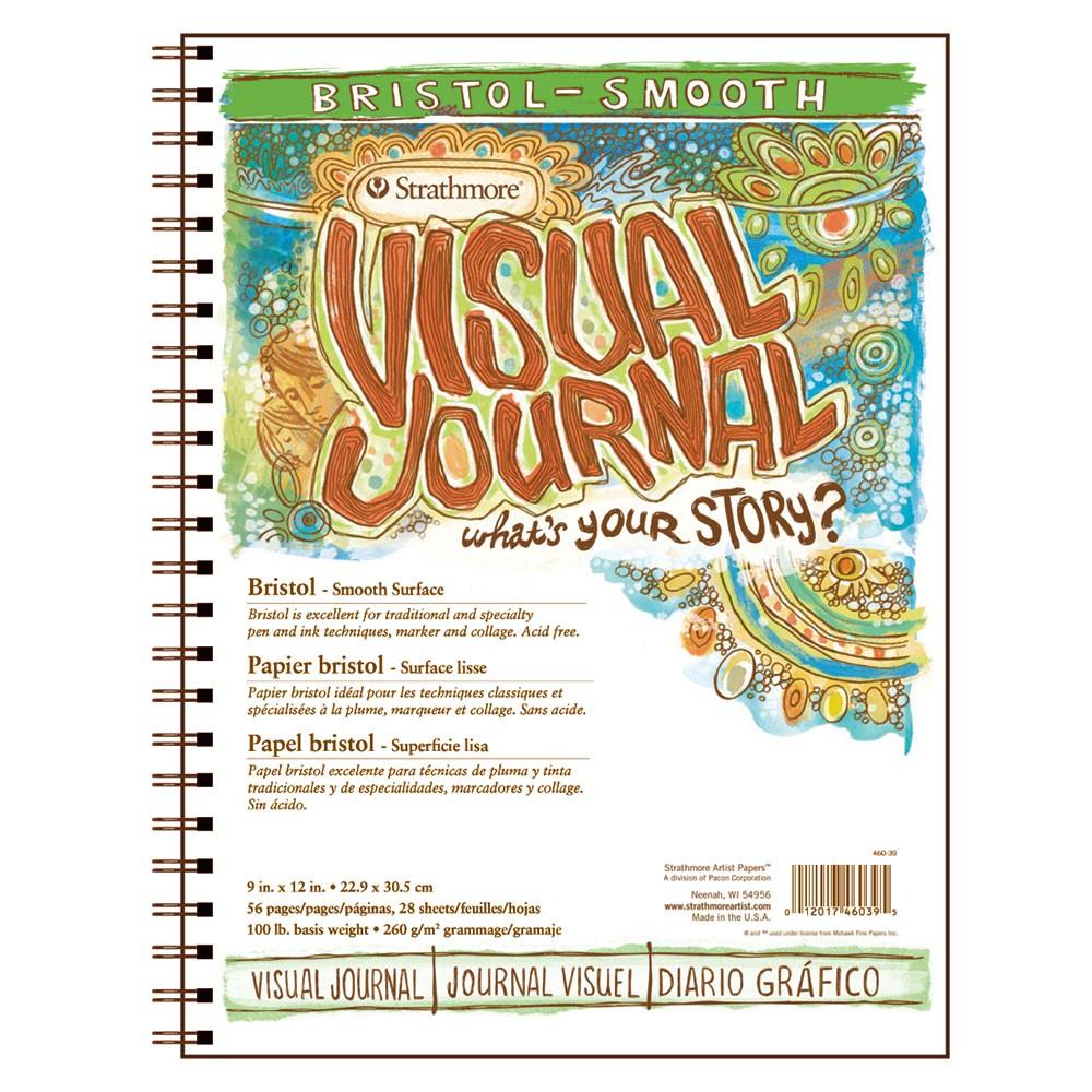 Strathmore : Visual Journal : Bloc Papier Bristol : 163gsm : 20x30cm : Surface Lisse