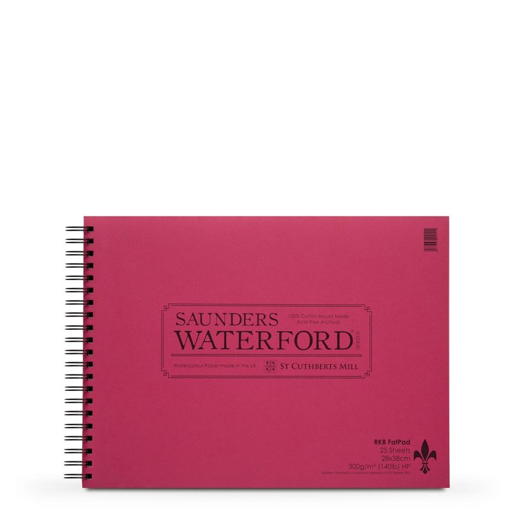 Saunders Waterford :30x40cm : Bloc Spire Encollé : 25 Feuilles : Grain Satiné