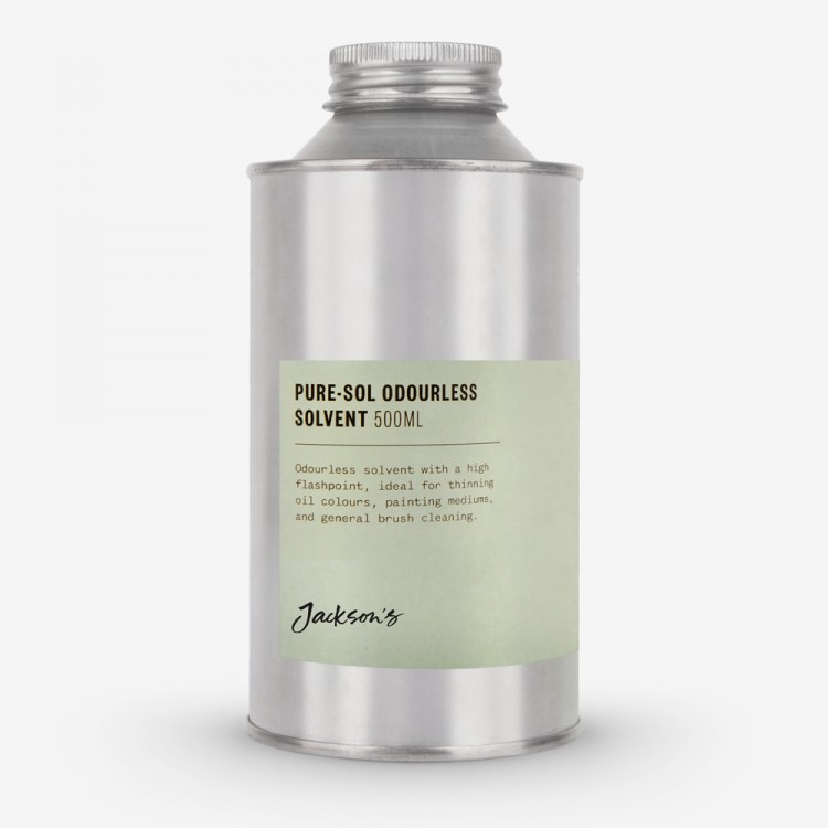 Jackson's : Pure-Sol : Odourless Solvent : Studio Safe With High Flash Point : 500ml