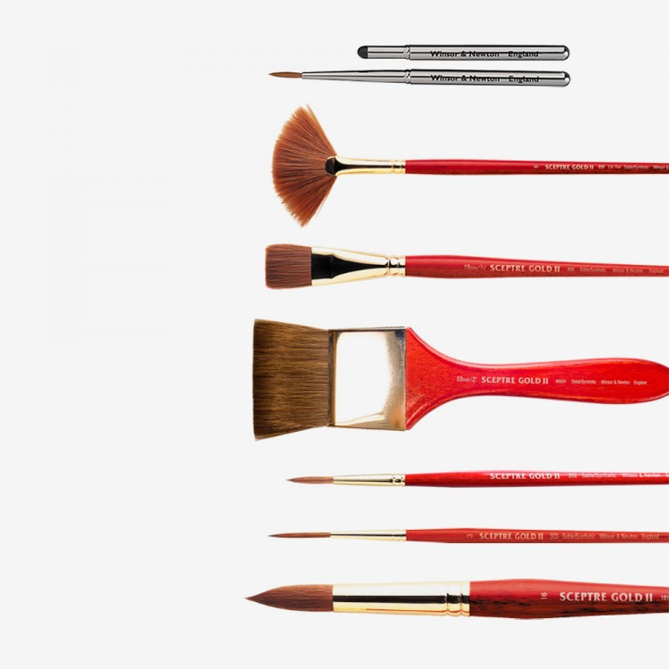 Winsor & Newton : Sceptre Gold II Sable/Synthetic Mix Brushes