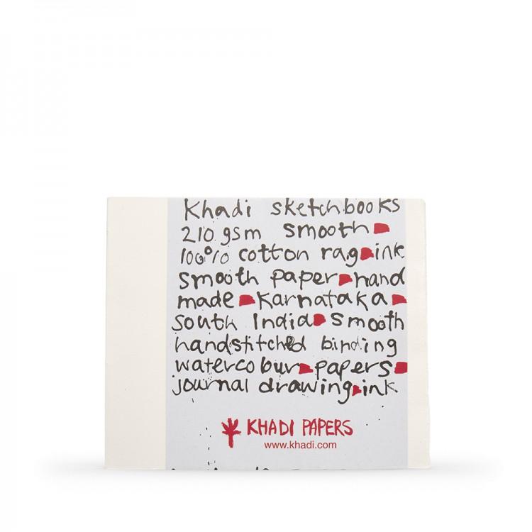 Khadi :Couverture Faite Main : Cahier de Croquis 210gsm : Surface Lisse : 21x25cm : 40 Pages
