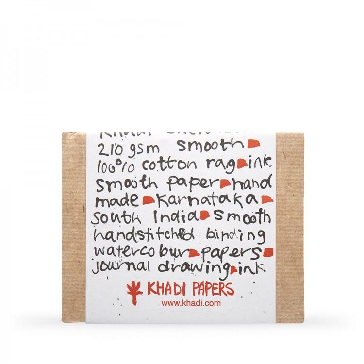 Khadi :Couverture Faite Main Rigide : Cahier de Croquis 210gsm : Surface Lisse : 13x16cm : 40 Pages