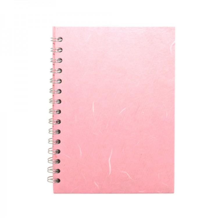Pink Pig :Cahier de Croquis Aquarelle : 270gsm : A5 : Couverture Rose Pâle : Portrait