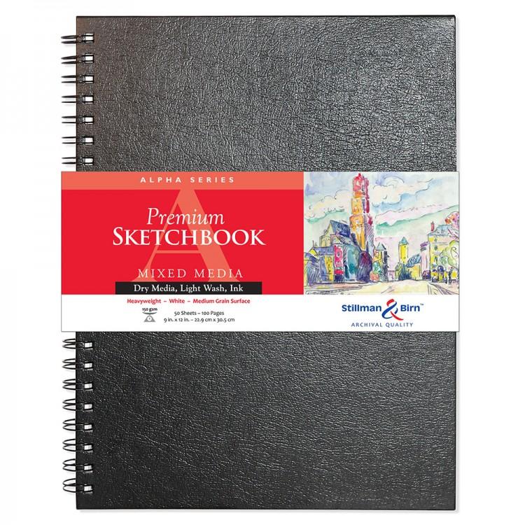 Stillman & Birn : Alpha  : Cahier de Croquis 9 x 12in - Wirebound 150g - Blanc Naturel Fini Vélin