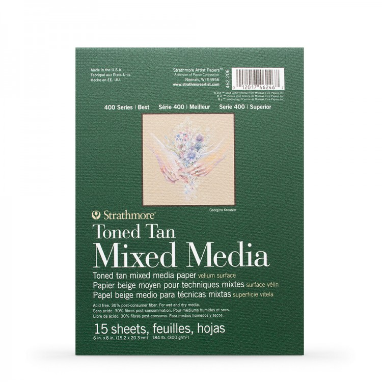 Strathmore : Série 400 : Teinté Brun Roux : Bloc Papier : Technique Mixte sur Papier  : 300g : 16x21cm