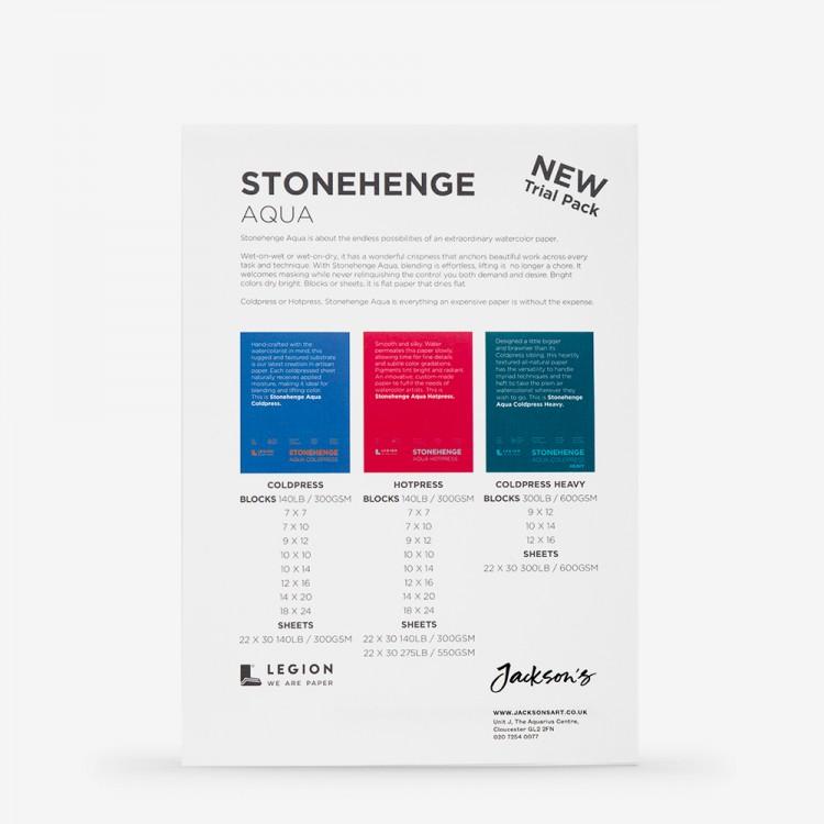 Stonehenge : Aqua : Papier : 13x18cm : Echantillon  : 1 Par Commande