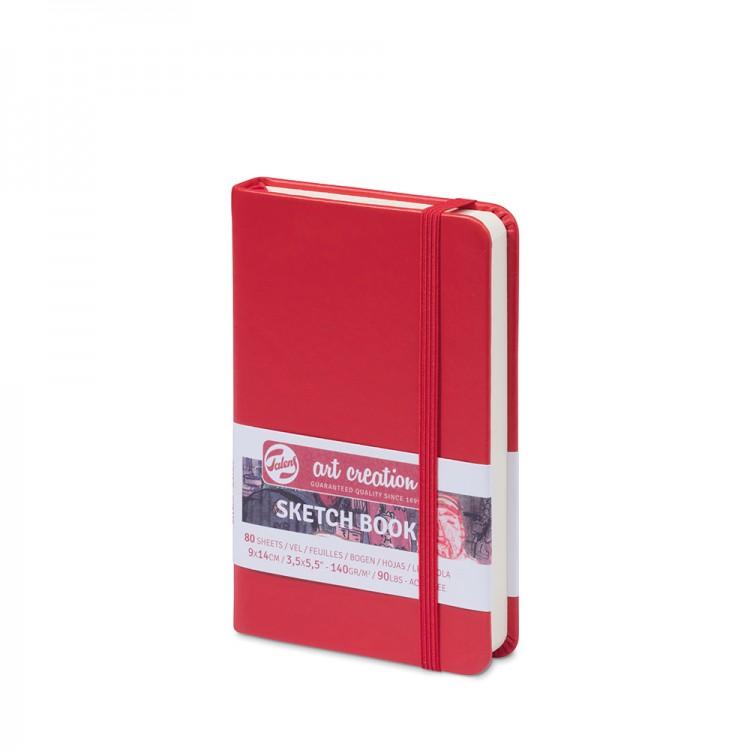 Royal Talens : Art Creation : Hardback Sketchbook : 9x14cm : Red