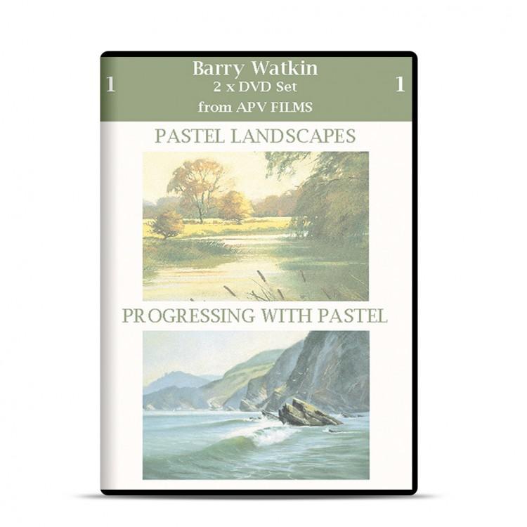 APV : DVD : Twin Pack : Pastel Paysages et Progressing avec Pastel : Barry Watkins