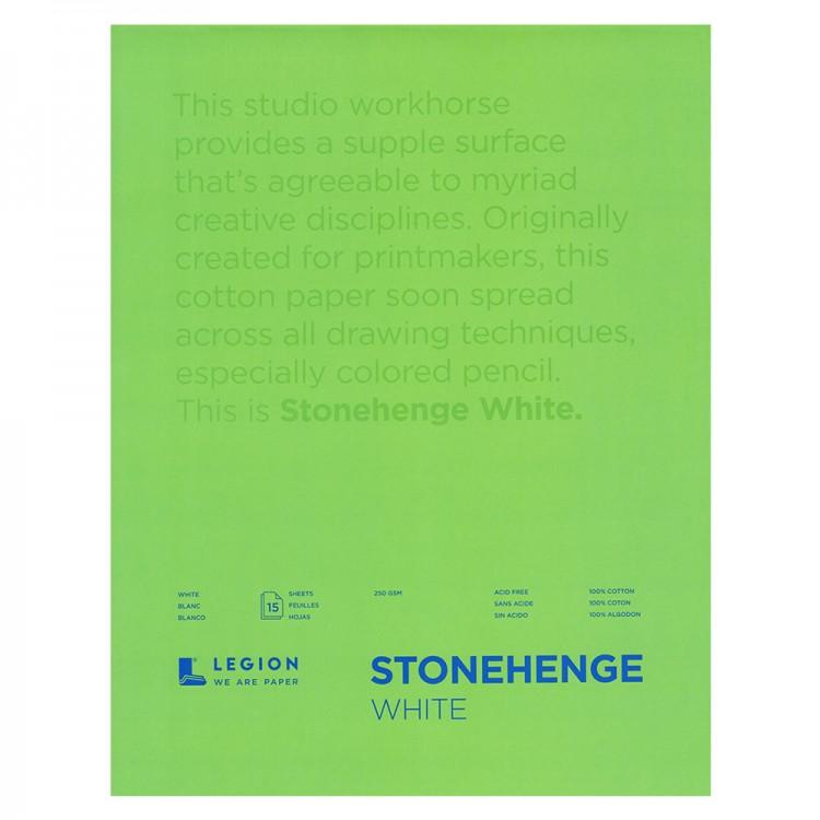 Stonehenge : Bloc Papier Art de Qualité  : 45x60cm : 15 Feuilles : Blanc : Surface Lisse / Fini Vélin