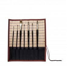 JAS : Chinese Painting : Bamboo Roll Up Brush Mat