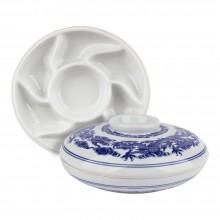 Jacksons : Ceramic Palette : 8.25in Diameter : 3in Deep With Lid