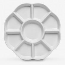 Jackson's : Palette Céramique : Daisy Porcelain 9 puits de  8 in.de Diamètre
