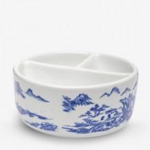 Jackson's : Ceramic Palette : 3 Well : 16.5cm Diameter