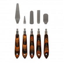 Panart : Densified : Painting Knife : Prym Wood Handle : Set of 5