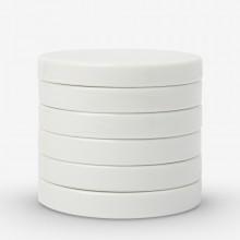 Jackson's :Palette Céramique Ronde Empilable : 3in (7.5cm)de Diamètre : Lot de 6