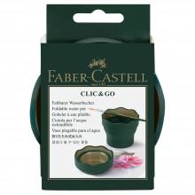 Faber Castell : Clic & Go Foldable Water Pot & Pot à Pinceaux : Green