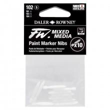 Daler Rowney : FW Mixed Media : Pointe pour Marqueur  : Hard Point : Lot de 10