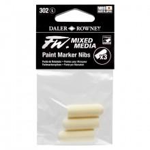 Daler Rowney : FW Mixed Media : Pointe pour Marqueur  : Large 3-6mm : Lot de 3