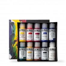 Golden : Fluid :Peinture Acrylique : 30ml : Professional Lot de  11