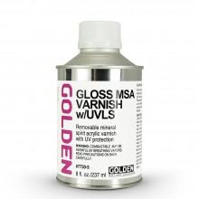 Golden : MSA (Mineral Spirit Acrylic) Verni: Brillant : 236ml : Expédition par Voie Terrestre: