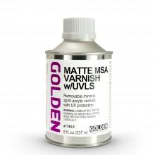 Golden : MSA (Mineral Spirit Acrylic) Verni: Mat : 236ml : Expédition par Voie Terrestre: