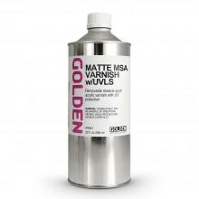 Golden : MSA (Mineral Spirit Acrylic) Verni: Mat : 946ml : Expédition par Voie Terrestre: