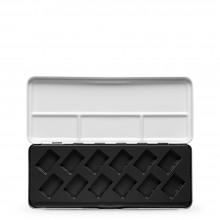 Vider la diagonale plastique moulage métallique aquarelle Box : tiendra 12 Pans complet
