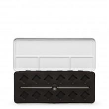 Vider la diagonale plastique moulage métallique aquarelle Box : tiendra 12 demi-godets