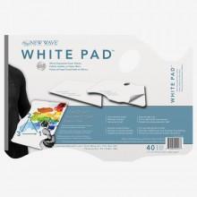 New Wave :Palette Jetable en Papier Blanc: Porté Main