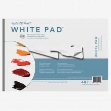 New Wave :Palette Jetable en Papier Blanc: Rectangulaire