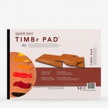 New Wave : Timbr Pad :Palette Jetable de Papiers : Modèle Rectangulaire : 30x40cm