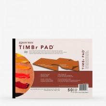 New Wave : Timbr Pad :Palette Jetable de Papiers : Modèle Rectangulaire : 20x30cm