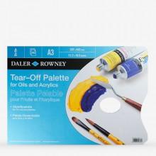 Daler Rowney : Tear Off Palette : Peintures :Acrylique et Huile : 40 Feuilles : A3 Blue
