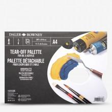 Daler Rowney : Tear Off Palette : Peintures :Acrylique et Huile : 40 Feuilles : A4 Blue