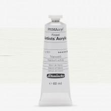 Schmincke :Primacryl Peinture Acrilique : 60ml Titanium White