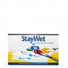 Daler Rowney :Stay Wet Palette avec Couvercle : Large : 20x11in
