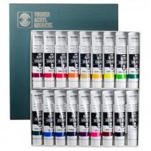 Jeu de 18 couleurs acrylique Gouache 20ml Turner