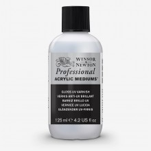 Winsor & Newton : Professionnel: Acrylique : Médium : Brillant UV Verni : 125ml