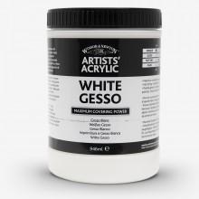 Winsor & Newton : Professionnel: Acrylique : Médium : Apprêt Plâtre Blanc : 946ml