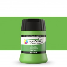 Daler Rowney : System 3 : Screen Printing Acrylic Paint : 250ml : Leaf Green