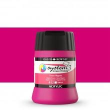 Daler Rowney : System 3 : Screen Printing Acrylic Paint : 250ml : Process Magenta