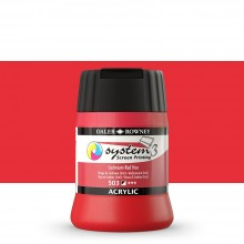 Daler Rowney : System 3 : Screen Printing Acrylic Paint : 250ml : Cadmium Red Hue