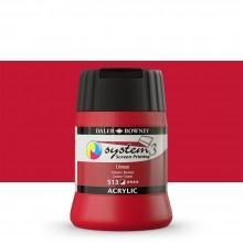 Daler Rowney : System 3 : Screen Printing Acrylic Paint : 250ml : Crimson