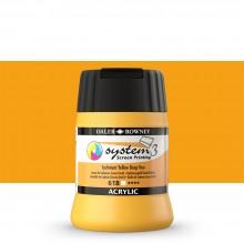 Daler Rowney : System 3 : Screen Printing Acrylic Paint : 250ml : Cad Yellow Deep Hue