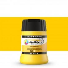 Daler Rowney : System 3 : Screen Printing Acrylic Paint : 250ml : Cadmium Yellow Hue